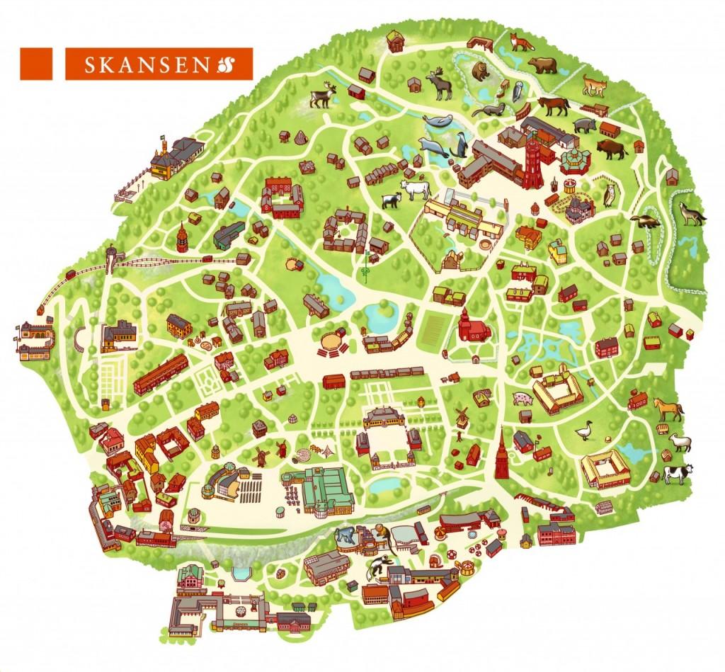 map of skansen