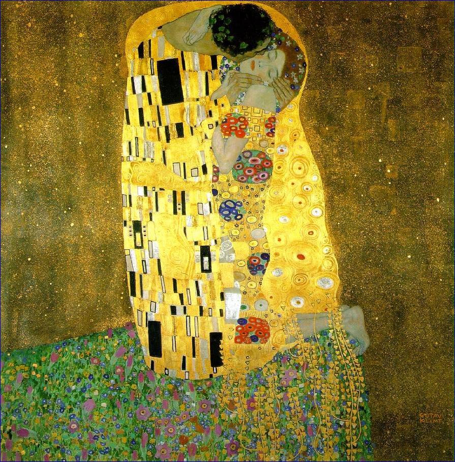 Le baiser, Klimt, Vienne